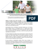 12-04-2015 Primera semana de actividades Nerio Torres Arcila recorrió más de 20 kilómetros presentando propuestas