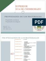 Propiedades de Los Materiales (Mecánicas, Tecnológicas)