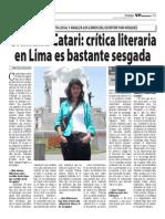 Giuliana Catari en el VP Semanario