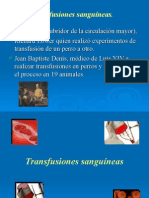Transfusiones sanguíneas.