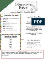 Newsletter April 13