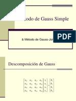 Método de Gauss Simple