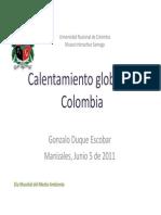 Calentamiento Global Colombia