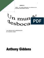 Giddens A. - Un mundo desbocado Introducción y Globalización..pdf