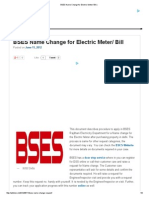 BSES Name Change for Electric Meter_ Bill