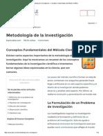 Metodología de La Investigación - Conceptos Fundamentales Del Método Científico