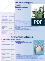 Gear Tester , Gear Measuring machines , Gear Inspection machines