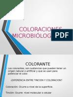 COLORACIONES  MICROBIÓLOGICAS