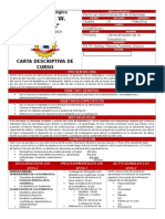 Carta Descriptiva Estadistica I 4AE