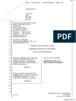 Oracle Corporation et al v. SAP AG et al - Document No. 37