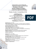 Programa XVII Colloquium on Mexican Literature 2014 Sc