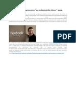 """Testes Facebook Apresenta """"Autodestruição Timer"""" Para o Conteúdo"""