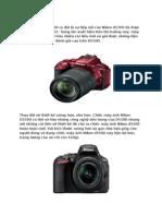Chiêm ngưỡng máy ảnh Nikon d5500