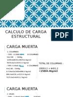 Calculo de Carga Estructural