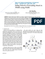 Mitigation of Colluding Selective Forwarding Attack in WMNs using FADE