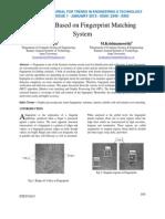 A Survey Based on Fingerprint Matching System