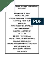 Ikrar Kejohanan Balapan Dan Padang Smkdhmt