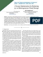 Parallel Particle Swarm Optimization for Reducing Data Redundancy in Heterogeneous Cloud Storage