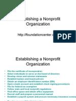 1. Establishing a Nonprofit