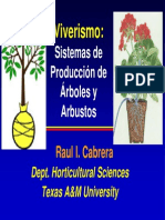 Viverismo - Sistemas de Producción de Árboles y Arbustos