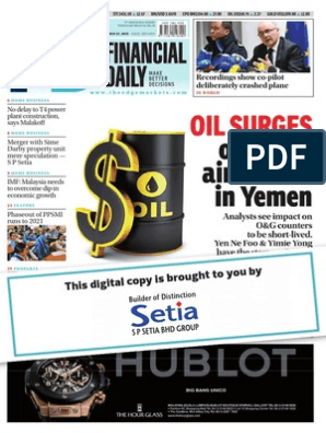 Financial Daily The Edge | Deflation | Price Of Oil