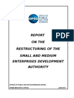 Final Report Restructuring SMEDA June 13