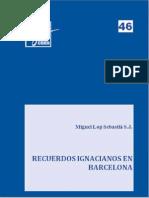 Eides 46, Recuerdos Ignacianos en Barcelona - Miguel Lop Sebastià, SJ