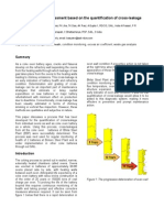 Battery health assessment based on the quantification of cross-leakage