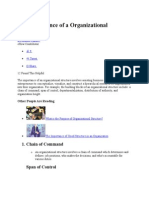 The Importance of a Organizational Structure