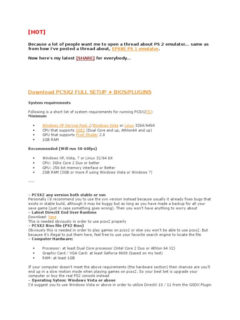 PCSX2 0 9 7  3133 Full Setup | Windows Vista | Microsoft Windows