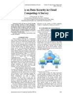 Analysis on Data Security in Cloud Computing-A Survey