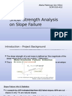 Slope Failure Study