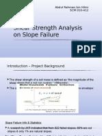 Slope Failure Study
