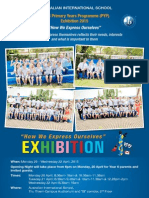 invitation year 6 pyp exhibition - a4 poster and invitation