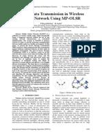 Secure Data Transmission in Wireless Sensor Network Using MP-OLSR