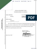 Apple Computer Inc. v. Burst.com, Inc. - Document No. 132