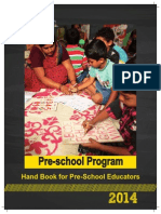 Handbook for Pre- School Educators