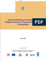 Economic Modeling of CCA Needs for Physical Infrastructures in Bangladesh - 2009