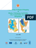 Engineering Geological Map for Seismic Hazard and Vulnerability Assessment of Dhaka, Chittagong and Sylhet City Corporation Area - 2009