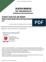 Syarat Kualitas Air Bersih _ Scribd