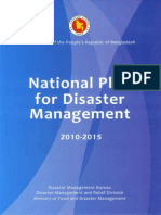 Policy - National Plan on Disaster Management (NPDM)