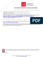 Scholling and Income Dist Evidence International