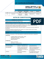 Acta de Constitución Pet Shop