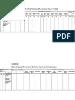 APP Formatprocurement