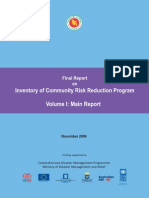 Report - Inventory of Community Risk Reduction Program - 2006