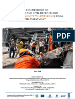 Report - Search and Rescue Role of FSCD and Urban Volunteer - Rana Plaza -Rapid Assesment