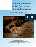 Trois méthodes infaillibles pour publier et vendre ses partitions de musique