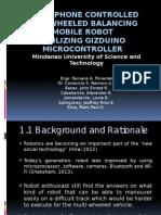 Smartphone Controlled Twho Wheel Balancing Robot Presentation Offline