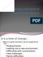 Meaning and Objectives Counselling