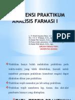 Asistensi Praktikum Analisis Farmasi i